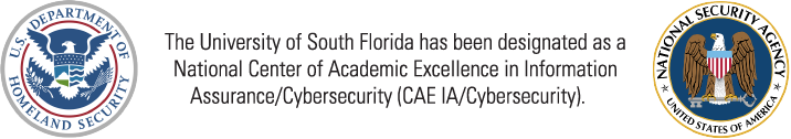 The University of South Florida has been designated as a National Center of Academic Excellence in Information Assurance / Cybersecurity (CAE IA / Cybersecurity)
