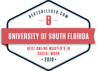 USF has the Best Online Master's in Social Work 2018 according to BestColleges.com